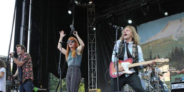 The Mowgli's performing as part of Music Midtown 2013 at Piedmont Park on Friday, September 20, 2013, in Atlanta. (Photo by R