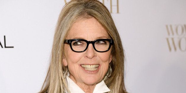 Actress Diane Keaton arrives at the Ninth Annual Women of Worth Awards hosted by L'Oreal Paris at The Pierre hotel on Tuesday