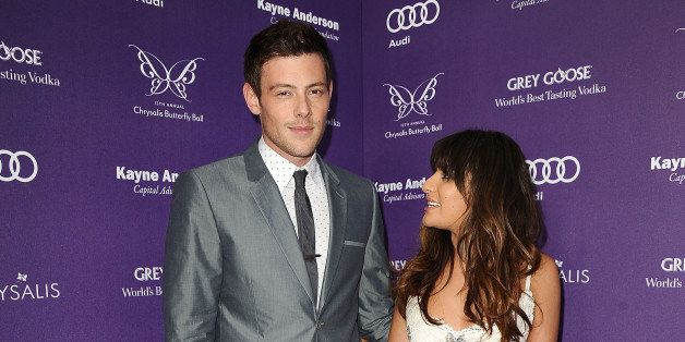 LOS ANGELES, CA - JUNE 08:  Actor Cory Monteith and actress Lea Michele attend the 12th annual Chrysalis Butterfly Ball on Ju