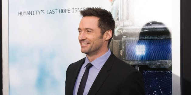 """Hugh Jackman attends the world premiere of """"Chappie"""" at the AMC Loews Lincoln Square on Wednesday, March 4, 2015, in New York"""
