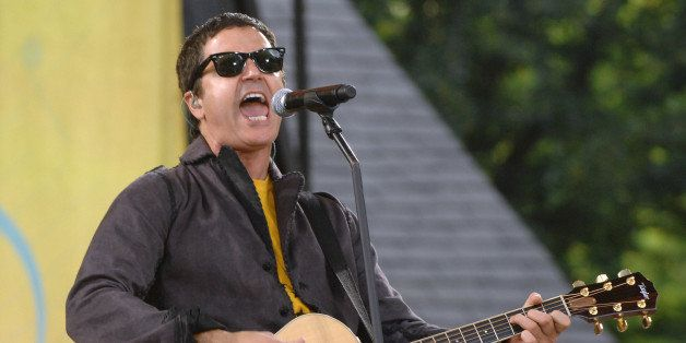 """Musician Stephan Jenkins of the music group Third Eye Blind performs on ABC's """"Good Morning America """" show in New York, on Fr"""