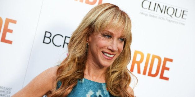 """Kathy Griffin arrives at the LA Premiere of """"Ride"""" at The Arclight Hollywood Theater on Tuesday, April 28, 2015, in Los Angel"""