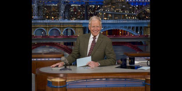 NEW YORK - APRIL 3: David Letterman announces that he will be retiring from the LATE SHOW with DAVID LETTERMAN on the broadca