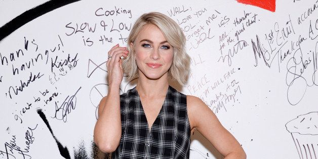 """Dancer Julianne Hough poses backstage before participating in AOL's BUILD Speaker Series to discuss her upcoming """"Move"""" live"""