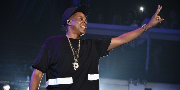 NEW YORK, NY - MAY 17:  Jay-Z performs during TIDAL X: Jay-Z B-sides in NYC on May 17, 2015 in New York City.  (Photo by Theo