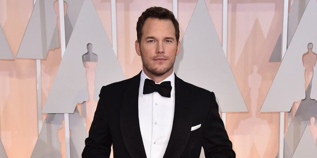 Chris Pratt arrives at the Oscars on Sunday, Feb. 22, 2015, at the Dolby Theatre in Los Angeles. (Photo by Jordan Strauss/Inv