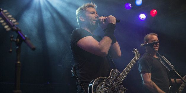 WEST HOLLYWOOD, CA - NOVEMBER 05:  Chad Kroeger of Nickelback performs on stage at the special announcement and live performa