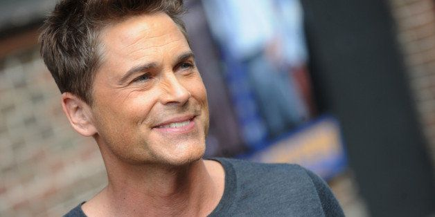 Rob Lowe attends the 'Late Show With David Letterman' taping at the Ed Sullivan Theater in New York City on April 8, 2014.