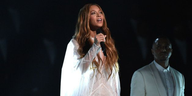 Beyonce performs at the 57th annual Grammy Awards on Sunday, Feb. 8, 2015, in Los Angeles. (Photo by John Shearer/Invision/AP