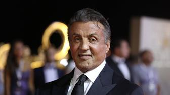 American actor and director Sylvester Stallone poses for photographers on the red carpet at the El Gouna film festival on the Red Sea in Egypt on September 28, 2018. (Photo by PATRICK BAZ / EL GOUNA FILM FESTIVAL / AFP)        (Photo credit should read PATRICK BAZ/AFP/Getty Images)