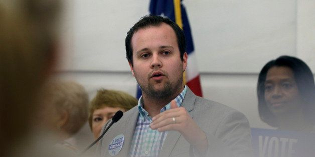 FILE - In this Aug. 29, 2014, file photo, Josh Duggar, executive director of FRC Action, speaks in favor the Pain-Capable Unb