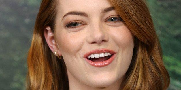 LONDON, ENGLAND - MAY 16:  Emma Stone attends a screening of 'Aloha' at Soho Hotel on May 16, 2015 in London, England.  (Phot