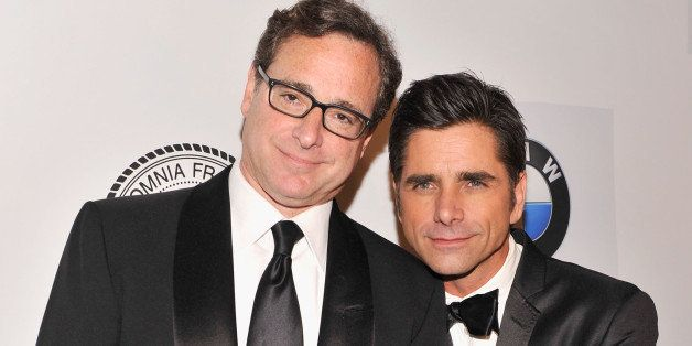 NEW YORK, NY - JUNE 24:  Bob Saget and John Stamos attend The Friars Foundation Annual Applause Award Gala honoring Don Rickl