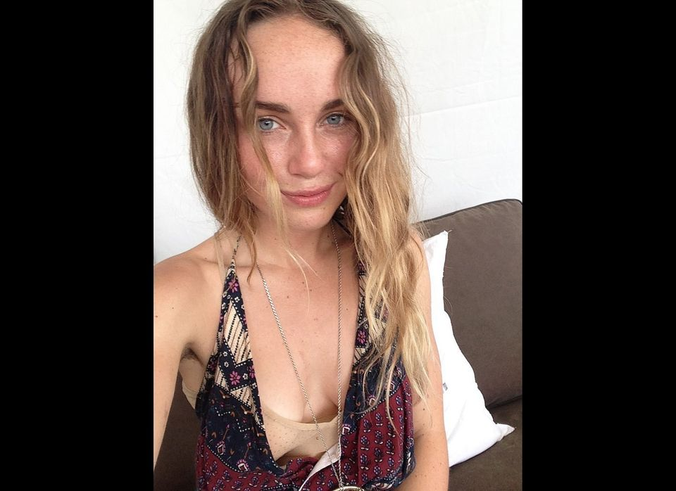 The Arizona-born singer-songwriter took this selfie during an interview at the Hangout festival on May 15, 2015.