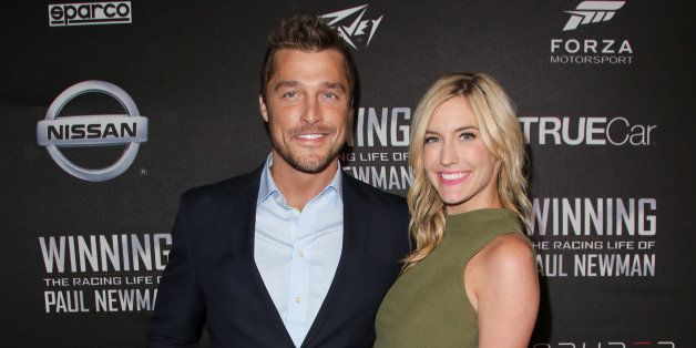 HOLLYWOOD, CA - APRIL 16:  Reality TV Personalities Chris Soules (L) and Whitney Bischoff (R) attend the screening of 'WINNIN