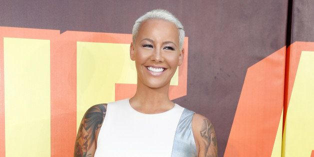 LOS ANGELES, CA - APRIL 12:  Model Amber Rose attends The 2015 MTV Movie Awards at Nokia Theatre L.A. Live on April 12, 2015