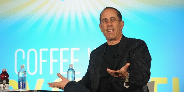 NEW YORK, NY - MAY 30:  Jerry Seinfeld speaks on stage during Vulture Festival Presents:  Coffee with Jerry Seinfeld at Milk