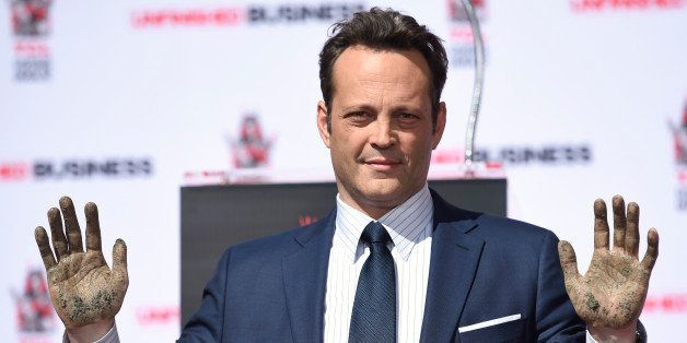 Vince Vaughn attends his handprint and footprint ceremony at the TCL Chinese Theatre IMAX on Wednesday, March 4, 2015, in Los