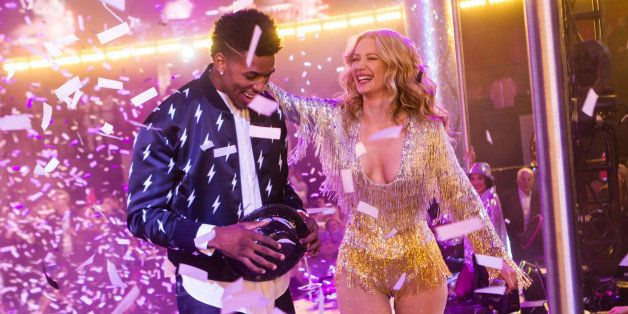 LAS VEGAS, NV - December 31: *** HOUSE COVERAGE*** Iggy Azalea and Nick Young pictured as Iggy Azalea performs at Drai's Nigh
