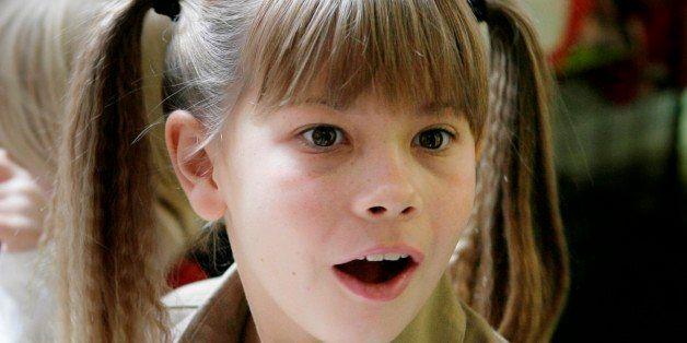 Bindi Irwin signs autographs during a promotional event at FAO Schwarz in New York, Monday, Feb. 18, 2008.  Bindi and her fam