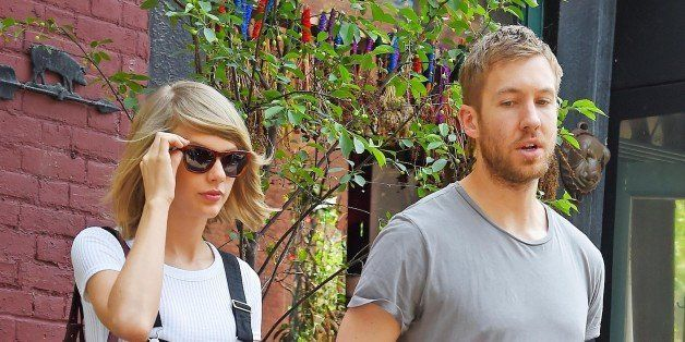NEW YORK - MAY 28: Taylor Swift and Calvin Harris get lunch at the Spotted Pig on May 28, 2015 in New York, New York.  (Photo
