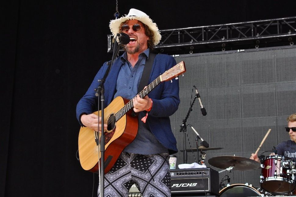 Michael Glabicki of Rusted Root performs at Mountain Jam 2015 in Hunter, New York.