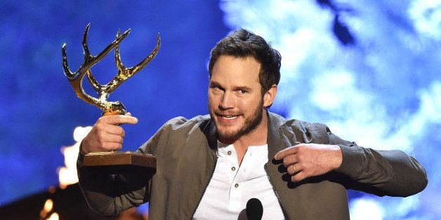 CULVER CITY, CA - JUNE 06:  Actor Chris Pratt accepts the Guy of the Year award onstage during Spike TV's Guys Choice 2015 at
