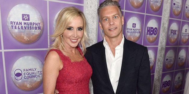 BEVERLY HILLS, CA - FEBRUARY 28:  TV personality Shannon Beador (L) and David Beador attend the Family Equality Council's 201