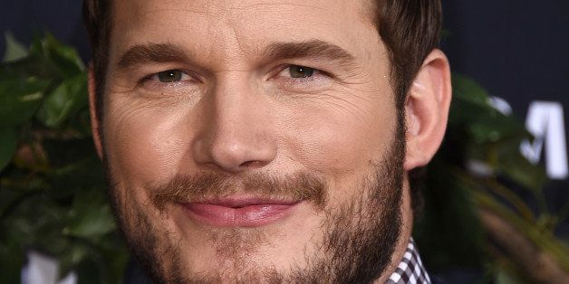 """Chris Pratt arrives at the Los Angeles premiere of """"Jurassic World"""" at the Dolby Theatre on Tuesday, June 9, 2015. (Photo by"""