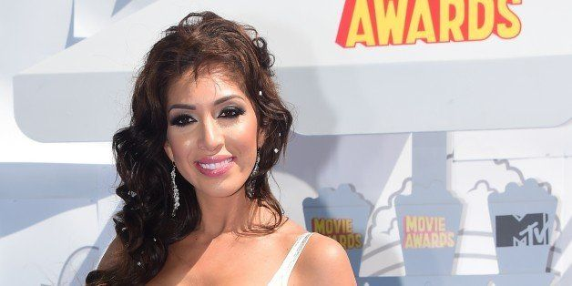 Actress Farrah Abraham poses on arrival for the 2015 MTV Movie Awards on April 12, 2015  in Los Angeles, California. AFP PHOT