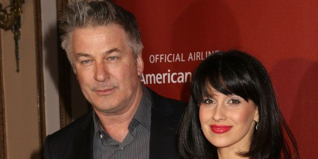 Alec Baldwin and wife Hilaria Baldwin attend the Roundabout Theatre Company's 2015 Spring Gala at the Waldorf-Astoria Hotel