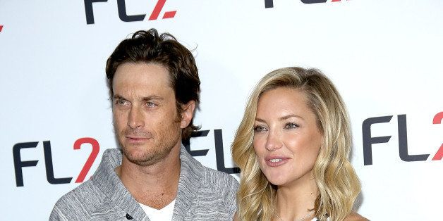 NEW YORK, NY - JUNE 04:  Oliver Hudson (L) and FABLETICS Co-Founder Kate Hudson attends FL2 Launch at Gramercy Terrace at The