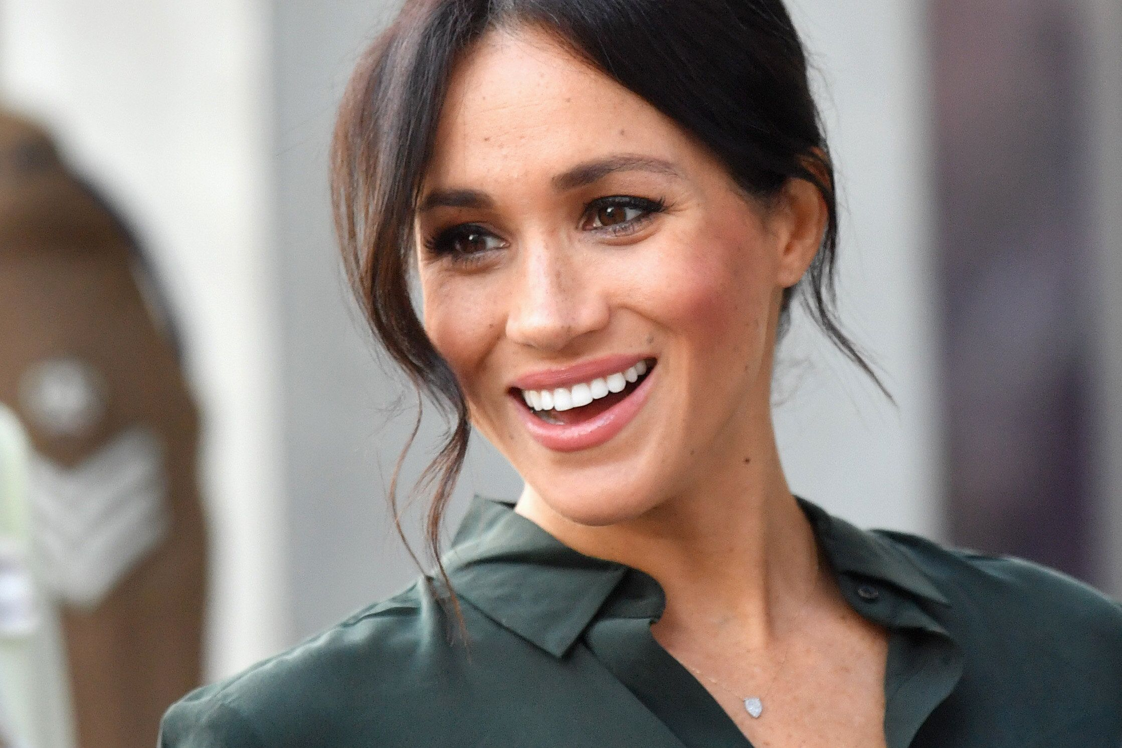Meghan Markle's Green Leather Look Is A Royal