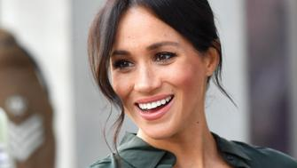 BOGNOR REGIS, UNITED KINGDOM - OCTOBER 03:  Meghan, Duchess of Sussex arrives at the University of Chichester's Engineering and Digital Technology Park during an official visit to Sussex on October 3, 2018 in Bognor Regis, United Kingdom.  The Duke and Duchess married on May 19th 2018 in Windsor and were conferred The Duke & Duchess of Sussex by The Queen.  (Photo by Samir Hussein/Samir Hussein/WireImage)