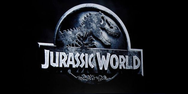 """Colin Trevorrow, director of """"Jurassic World,"""" discusses the film at the Universal Pictures presentation during CinemaCon 201"""