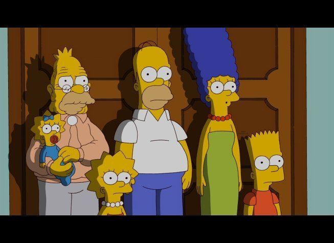 The Simpson family doesn't look too pleased.