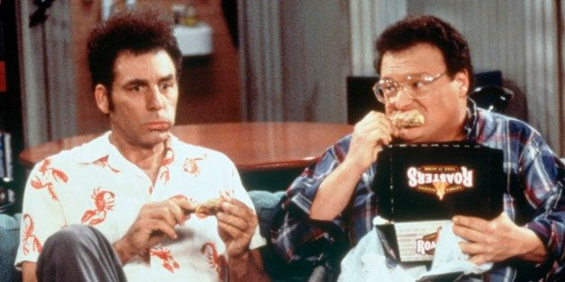 SEINFELD -- 'The Chicken Roaster' Episode 8 -- Pictured: (l-r) Michael Richards as Cosmo Kramer, Wayne Knight as Newman  (Pho