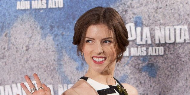 US actress and singer Anna Kendrick poses for photographers during the photocall of her new film: 'Pitch Perfect 2' in Madrid