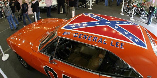 A 1969 Dodge Charger, dubbed 'The General Lee' from the TV series 'The Dukes of Hazzard', is displayed during the 37th Annual
