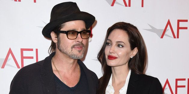 Brad Pitt, left, and Angelina Jolie arrive at the AFI Awards at The Four Seasons Hotel on Friday, Jan. 9, 2015 in Los Angeles