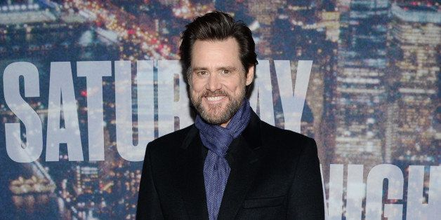 Jim Carrey attends the SNL 40th Anniversary Special at Rockefeller Plaza on Sunday, Feb. 15, 2015, in New York. (Photo by Eva