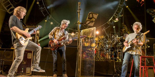 Trey Anastasio, from left, Phil Lesh, Bob Weir of The Grateful Dead perform at Grateful Dead Fare Thee Well Show at Soldier F