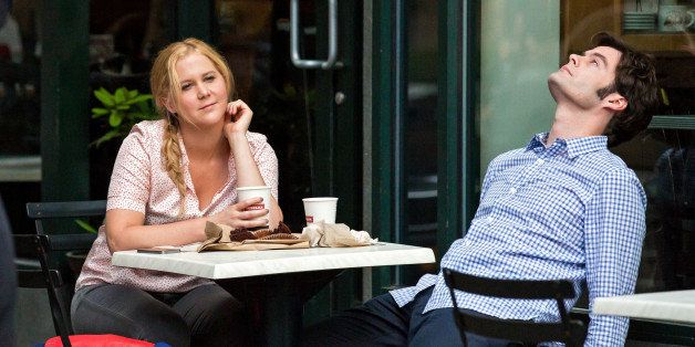 NEW YORK, NY - JULY 16:  Amy Schumer and Bill Hader are seen filming 'Trainwreck' in East Village on July 16, 2014 in New Yor