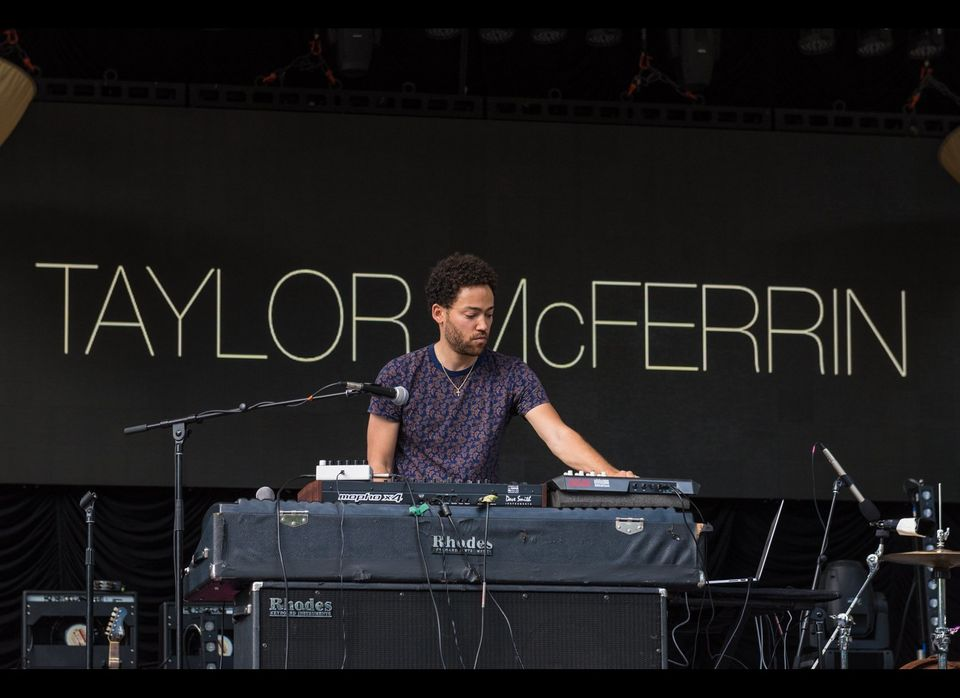 "Taylor McFerrin, opening for Glass Animals at Summerstage in Central Park. Photo by <a href=""http://dac.photography"" target="""