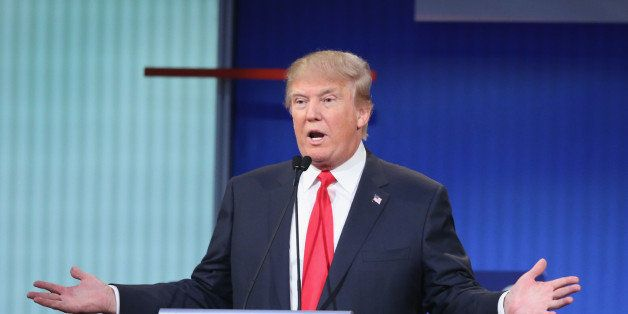 CLEVELAND, OH - AUGUST 06:  Republican presidential candidate Donald Trump fields a question during the first Republican pres