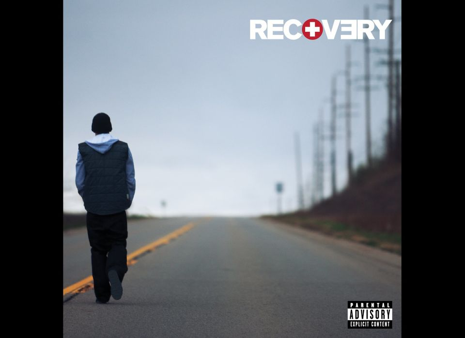 """In this CD cover image released by Interscope Records, Eminem's """"Recovery"""" is shown. (AP Photo/Interscope)"""