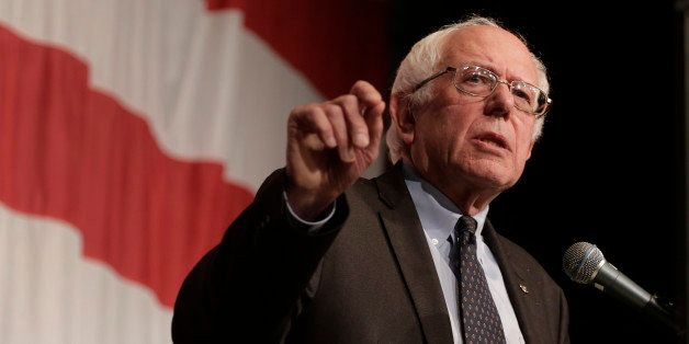 Democratic presidential candidate Sen. Bernie Sanders, I-Vt., speaks at the Iowa Democratic Wing Ding at the Surf Ballroom Fr