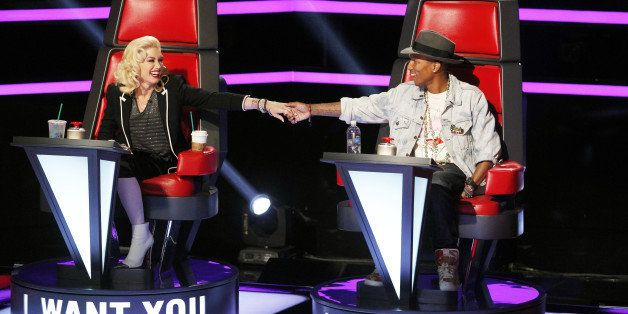THE VOICE -- 'Blind Auditions' Episode 703 -- Pictured: (l-r) Gwen Stefani, Pharrell Williams -- (Photo by: Trae Patton/NBC/N