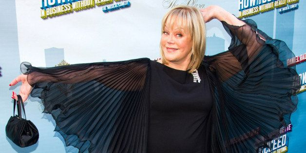 "Candy Spelling arrives for the opening night performance of the Broadway musical ""How to Succeed in Business Without Really T"