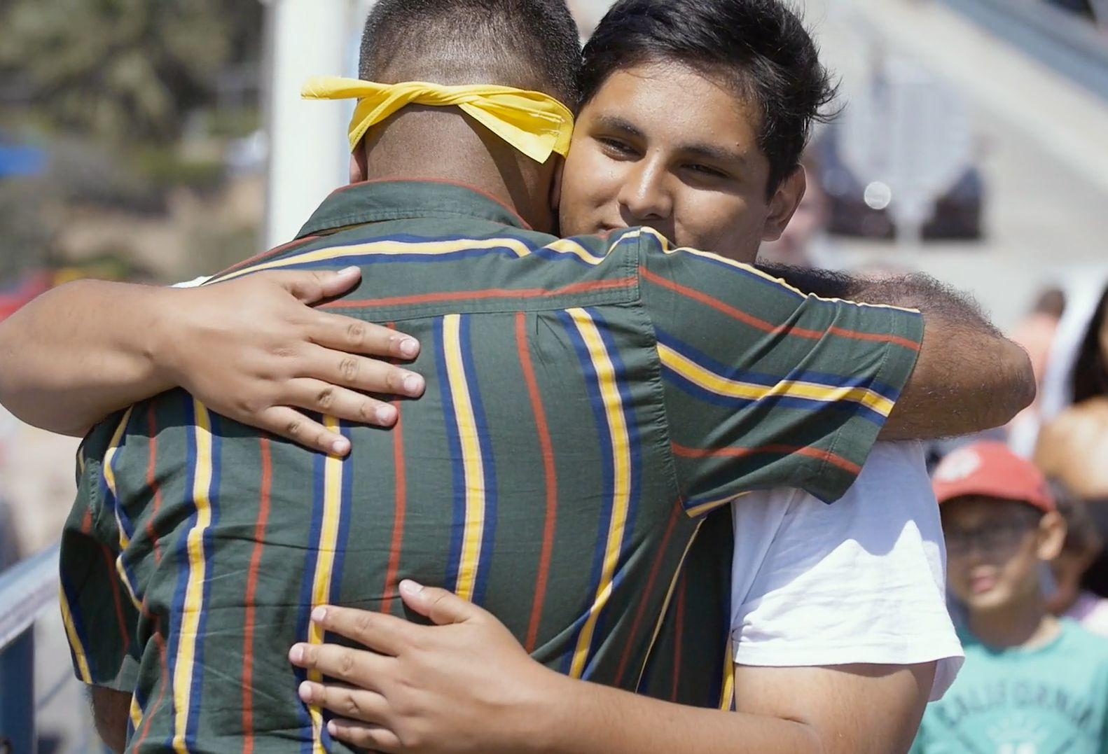 Powerful Video Shows Man Offering Hugs To Strangers Affected By